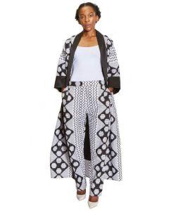 African Print Black & White Squares - Set