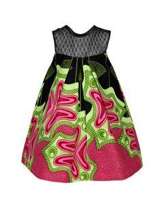 GIRLS ANKARA SHIFT DRESS - MULTICOLORED
