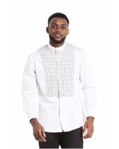 Shujaa White Shield Shirt