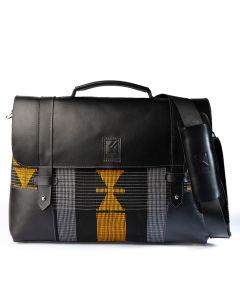 FLK Black n Gold Mens Briefcase