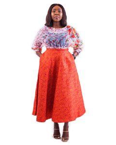 The Circle Skirt and Organza Blouse
