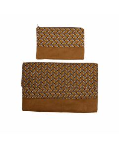 Laptop cover + pouch Brown/Yellow - 15''
