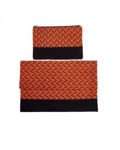 Laptop cover + Pouch Orange/Red - 15''