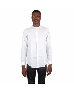 Plain Collarless Shirt