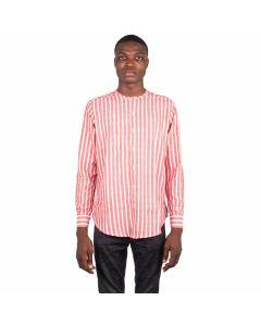 Stripe Collarless Shirt