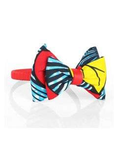GIRLS ANKARA ALICE BAND WITH DOUBLE BOW DETAILS - MULTICOLORED