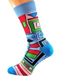 Ndebele - Sky Blue Socks