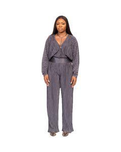 Pleated Jumpsuit with Buba Sleeve