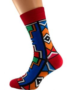 Red Ndebele Socks