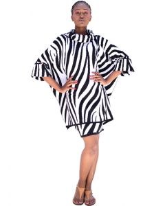 Safari Wear Flocape - Zebra