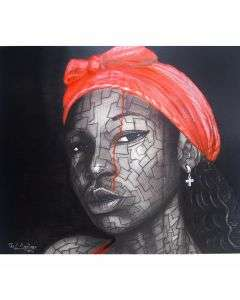 Paul Ayihawu - The Lady With A Red Scarf